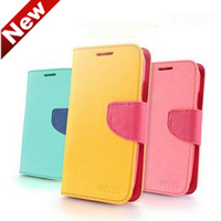 2014 New Hit Colorful High Quality PU Leather Case For iPhone 5s Flip Case With Wallet Function For iPhone 5S Free Shipping