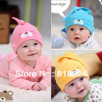 Retail 2014 Cartoon Rabbit Children Autumn Winter CottonSkullies & Beanies Hat Baby Infant Reversible ELF Hat Kids Headwear