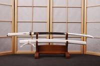 Pure White Japanese Sword Katana AISI 1060 Blade Sharp Edge Ready for Cut HA107