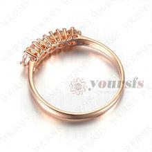 18K Gold Plated Wedding Rings Aneis Femininos Triple Austria Crystal Simulated Diamond Ring Aliexpress R215R1