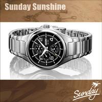 DOM fashion Sapphire dial titanium Calendar relojes men full steel quartz watch 50M waterproof military dress watches male clock
