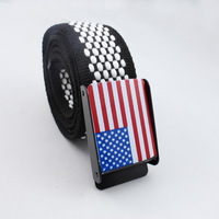 Men Boys Girls Unisex couple Casual Canvas BeltsWaistband Waist Belt Strap  flag printing#2415