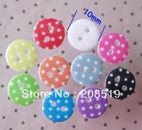 NB0197 craft buttons printed polka dot shirt button 300pcs 10mm round button garment accessory