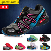 2013 Free Shipping Sale Discount Salomon shoes Speed Cross 3 Outdoor men's hiking shoe for men CS XT 3D wings ultra running shoe