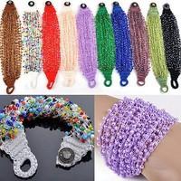 Wholesale 10pcs 18CM Handmade Fashion Multicolor Bead Braid Bracelets Jewelry