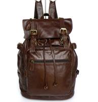 Vintage First Layer Cowhide Big Travel Bags Genuine Leather Sports Bag Laptop Handbag For Men Women Unisex Vintage Mochilas 2014