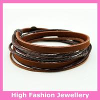 C0335 fashion handmade wrap bracelets,free shipping genuine leather charm tribal jewelry,hot sale multicolor wristband 12pcs/lot