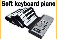 Portable Flexible Roll Up 61 Keys Electronic Piano Soft Silicone Keyboard Midi Digital Organ Synthesizer Originality Gift