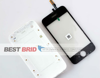 Back housing Cover+LCD Touch screen digitizer for iphone 3GS Black