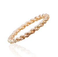 Wholesale Italina Rigant Crystal Elements Twist Finger Fashion Ring with 18K Gold Plated Free Shipping