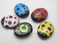 100pcs/lot Large Supply Cartoon Beetle MP3 player, Beautiful Gift Music Player With Card Slot Free Shipping