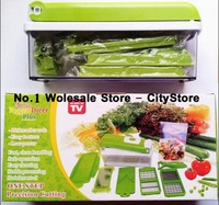Free Shipping 24sets/lot Nicer Dicer Plus Vegetables Fruits Dicer Food Slicer Cutter Containers Chopper Peelers As Seen On TV