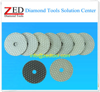 One set (8pcs) 100mm Hexagonal Diamond Polishing Pad Dry