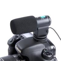 Black Mini External Directional Stereo Microphone MIC-109 For 3.5mm MIC Jack Nikon Canon DSLR Camera DV Camcorder Free Shipping