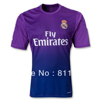 13/14 real madrid goalkeeper GK purple soccer football jersey, top thai quality goalie soccer uniform embroidery logo free ship