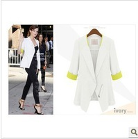 2014 Autumn women zipper knitted blazer slim fit causal jacket al-buy #3216