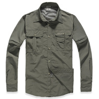 2013  Spring/summer/Autumn mens quick dry outdoor sports shirts quick dry travelling hiking climbing clothes/tops