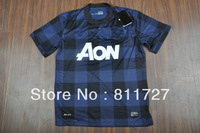 top thai quality  2013/14 ROONEY CHICHARITO away blue soccer football jerseys, V. PERSIE GIGGS soccer uniforms embroidery logo