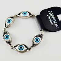 Hot sale fashion angel eye personality charms bracelets for women two colors Free shipping  RuYiSLL011