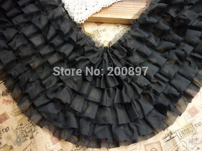 Plis accordéon en mousseline de soie en dentelle dentelle décoration bricolage. 6 couche 3 couleurs disponibles 19-20cm largeur 5 mètres beaucoup. accepterservice couleur de mélange