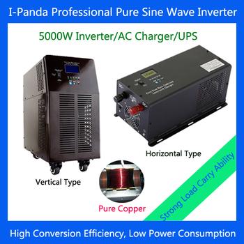 5000W power inverter pure sine wave 5000w dc24v dc48v to ac invertor  Peak power 15000W