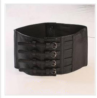 Ultra wide corset belt female waist decoration fashion belt for women wide black Cummerbund