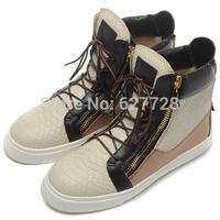 Snakeskin GZ Sneaker,Women Hot Sell 2014 European Fashion Sneaker,Lace Up High Quality Sneaker