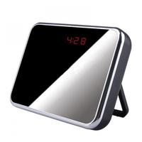 Free ShippingMirror Digital Clock Hidden Camera With Motion Detection HD 1280x960 Mini DV DVR Clock Security Camera