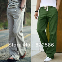 FREE SHIPPING HOTSALE New arrival 2013 linen pants Men trousers male casual pants fluid elastic loose plus size