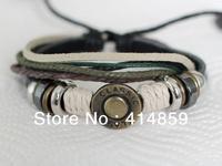 169 Black men leather bracelet Man bracelet  European medieval style Gift to her boyfriend Classical and manly leather bracelet