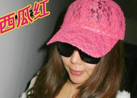 Female hat summer neon candy color lace baseball cap sun-shading sunscreen sun hat