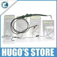 Free Shipping 2 Sets Carp Fishing Hook Europe hair hook Hair Rig Set For Carp Fishing Light