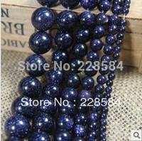 "Mini order is 8USD,Wholesale 10mm Galaxy Staras Blue Sand Sun Sitara Loose Beads 15"" fashion jewelry"