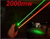 2000mw Matches green pen starry laser pen smoke laser pen red light pointer pen waterproof charge