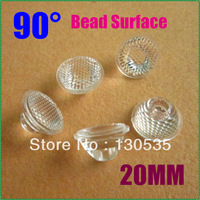 300pcs/lot 90 Degree 20mm LED bead Lens for 1W LED Lamp Condensing Lens Spare parts for LED light High quality Free shpping