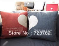 LOVERS Cushion cover with filling for home decor and car and chair use, pillow cushion 45*45CM-2pcs/pack
