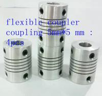 4pcs/lot of flexible coupler coupling 5mm*5 mm
