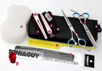 Free Shipping! 6.0  inch Professional Hair Cutting Scissors and Thinning Scissor One Set  Hair Cutting Tool+2 Combs+Nice Bag+