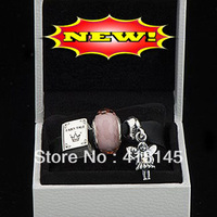 925 Sterling Silver Charms and Murano Glass Beads Jewelry Set with Charm Box Fits European Bracelet-Fairy Tale Gift Set