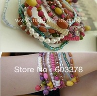 Hot wholesale fashion jewelry sweet color bead bracelet 3160 for women Christmas gifts Free shipping