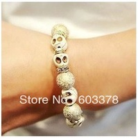 Fashion personalized imitation diamond bracelet skull for women Christmas gifts Free shipping
