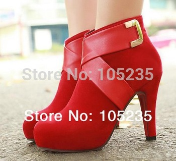 ankle boots Женщины Модный Короткий boot winter footwear high heel shoes sexy snow ...