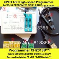 FREE SHIPPING! CH2013B USB Programmer+SOP8 Test Clip for 24xx25xx93xx SPI FLASH EEPROM High-speed Programmer