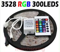 5M 3528 LED Strip Waterproof 60 LEDs/M DC 12V 20W RGB Strip + 24 Key Controller + RGB Control Box