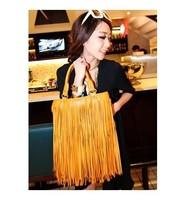 Hot Casual Women's fashion Punk Fringe bag tassel vintage rivet bag female big handbag