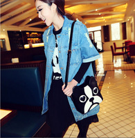 Women Fashion PU Leather Cute Cartoon pattern dog head Shoulder messenger Bag Handbags