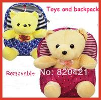 Removable Winnie  children cloth cute girl cartoon burdens small bag backpack, children school bag, child backpack free shipping