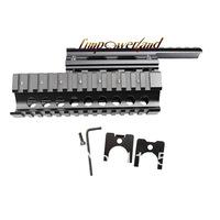 Black Color AK Handguard RIS Quad Rail System