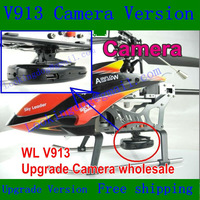 Upgrade Version, Wltoys V913 Remot control Helicopter with Camera,2.4G 4CH With Gyro 2.4ghz,VS F45 ,Upgrade of V912 Single Blade