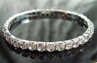 Favorite crystal bracelet with single row drilling stretch bracelets bracelets